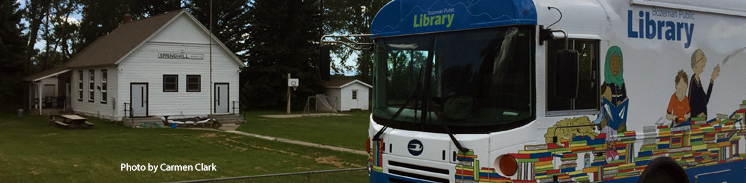 Photo of the bookmobile at Springhill School.