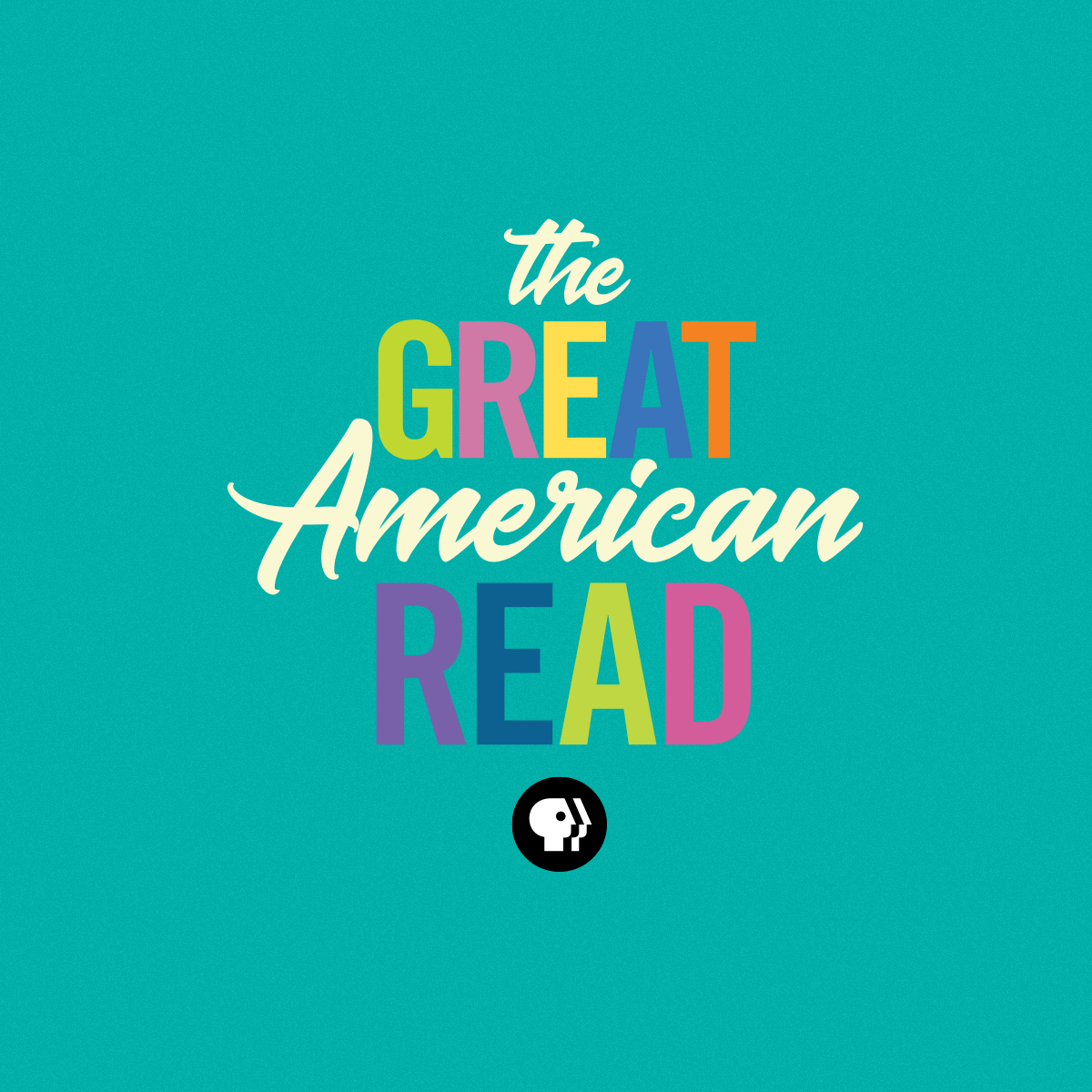 multicolored logo of great american read