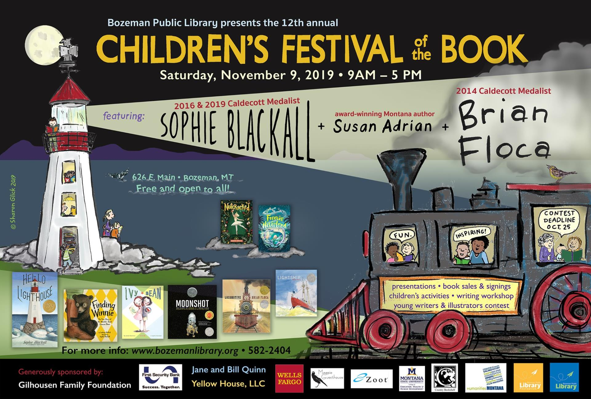 childrens festival of the book 2019 poster image